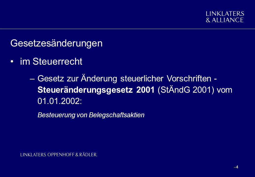 –25 Urteile des BFH Urteile vom 24.01.2001 –Gegenstand ozeitraumbezogene Aufteilung des Besteuerungsrechts bei grenzüberschreitenden Sachverhalten oStock Options als Belohnung für Tätigkeit in der Vergangenheit.