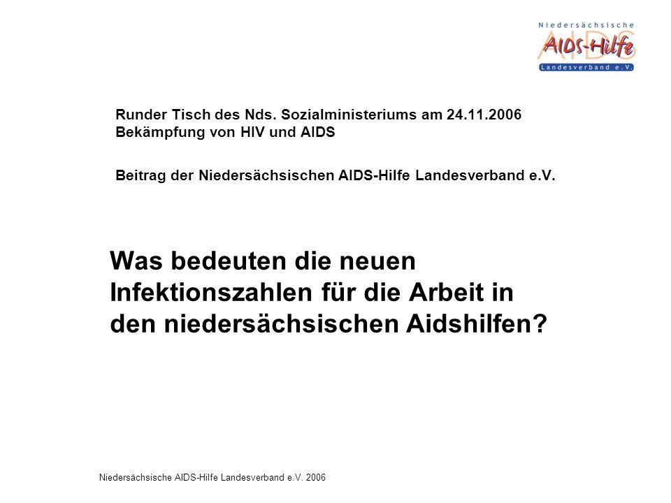Niedersächsische AIDS-Hilfe Landesverband e.V.2006 Runder Tisch des Nds.