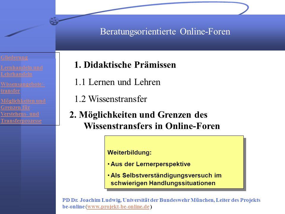 Beratungsorientierte Online-Foren 1.