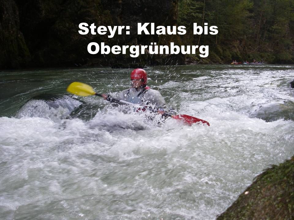 Steyr: Klaus bis Obergrünburg