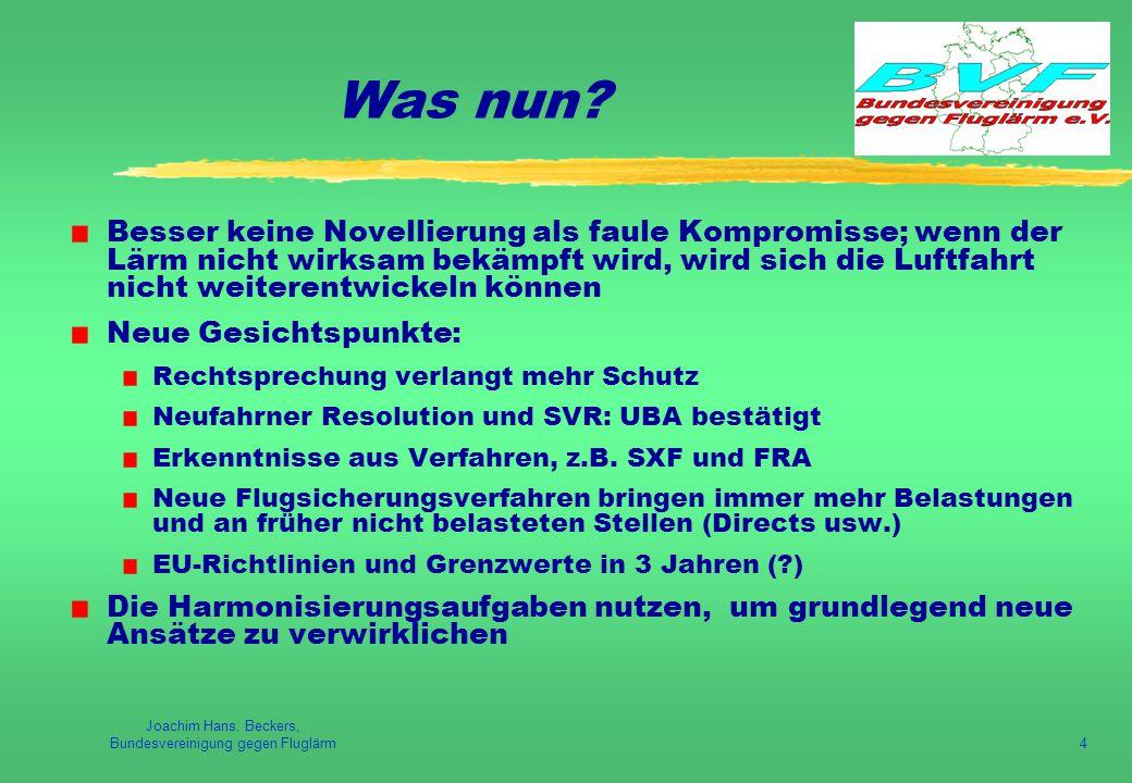 Joachim Hans. Beckers, Bundesvereinigung gegen Fluglärm4 Was nun.
