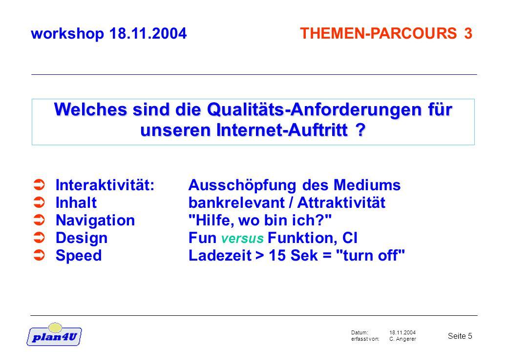 18.11.2004 C.Angerer Seite 6 Datum: erfasst von: Wer besucht unsere Websites im 2002 und warum .