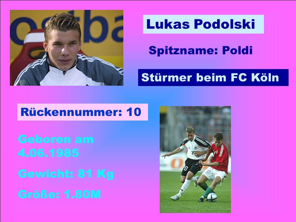 Bastian Schweinsteiger Mittelfeldspieler beim FC Bayern- München Geboren: 1.08.1984 Gewicht: 76 Kg Größe: 1,80 M Rückennummer: 31 Spitzname: Schweini