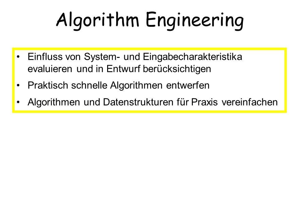 Einfluss von System- und Eingabecharakteristika evaluieren und in Entwurf berücksichtigen Praktisch schnelle Algorithmen entwerfen Algorithmen und Dat