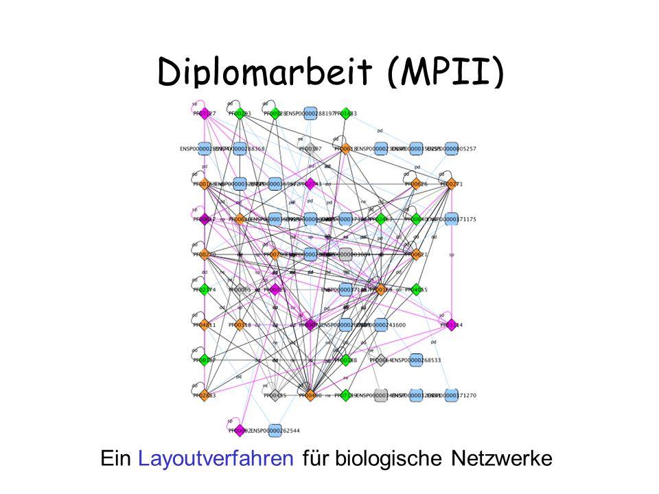 Diplomarbeit (MPII) Ein Layoutverfahren für biologische Netzwerke