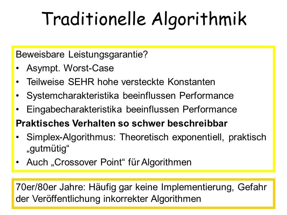 Anwendungsbereiche Automatisches Zeichnen von Graphen –Kreuzungsminimierung –Planare Zeichenverfahren Molekulare Bioinformatik –Sequenzanalyse (Sequenzenalignierung) –Proteinanalyse (Suffix Arrays, Graphprobleme) Netzwerkdesign Diplomarbeitsthemen Routenplanung