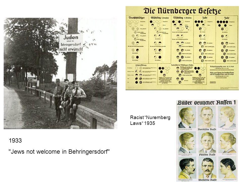 Racist Nuremberg Laws 1935 1933