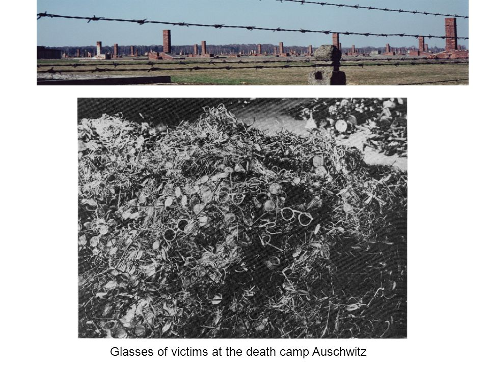 Glasses of victims at the death camp Auschwitz