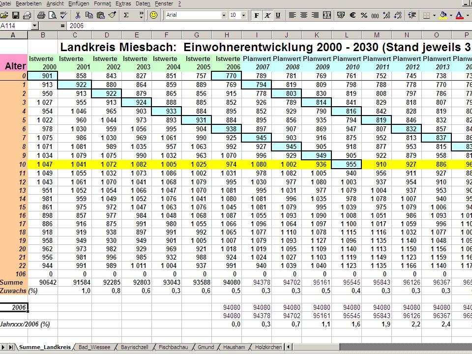 Auszug Kommunale Summenliste