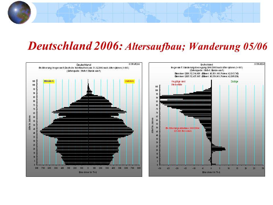 Deutschland 2006: Altersaufbau; Wanderung 05/06