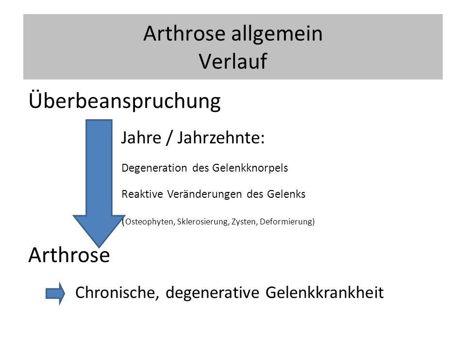 Coxarthrose Hüftgelenksendoprothese