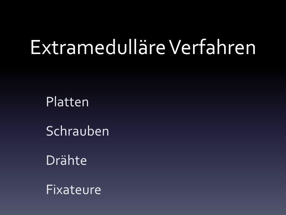 Extramedulläre Verfahren Platten Schrauben Drähte Fixateure
