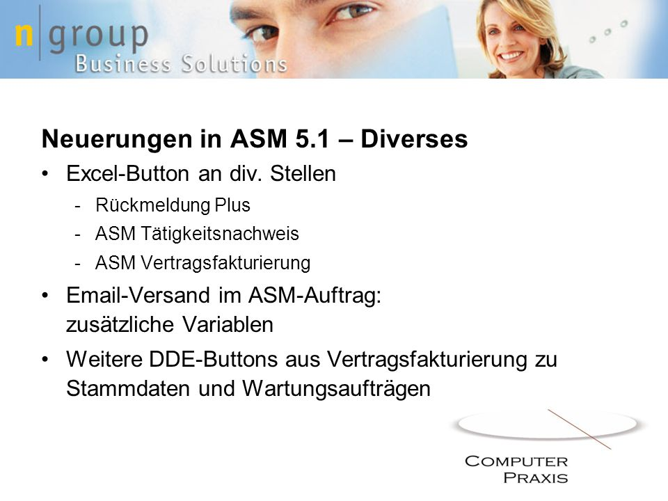 Neuerungen in ASM 5.1 – Diverses Excel-Button an div.