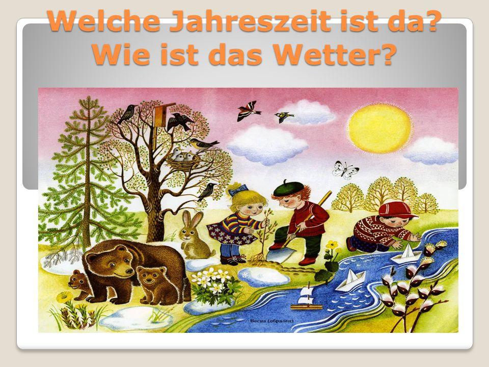 Die Jahreszeit – время года Das Wetter – погода der Frühling - весна