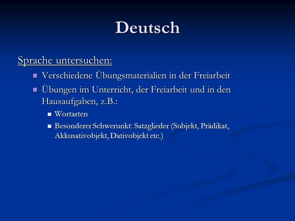 Deutsch Sprache untersuchen: Verschiedene Übungsmaterialien in der Freiarbeit Verschiedene Übungsmaterialien in der Freiarbeit Übungen im Unterricht,