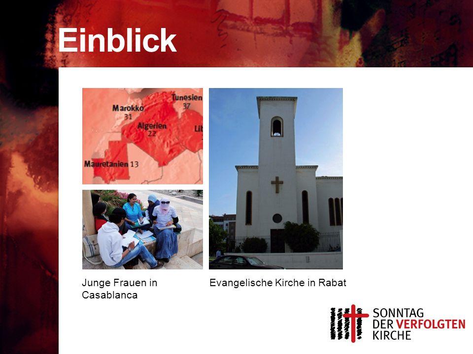 Einblick Junge Frauen in Casablanca Evangelische Kirche in Rabat