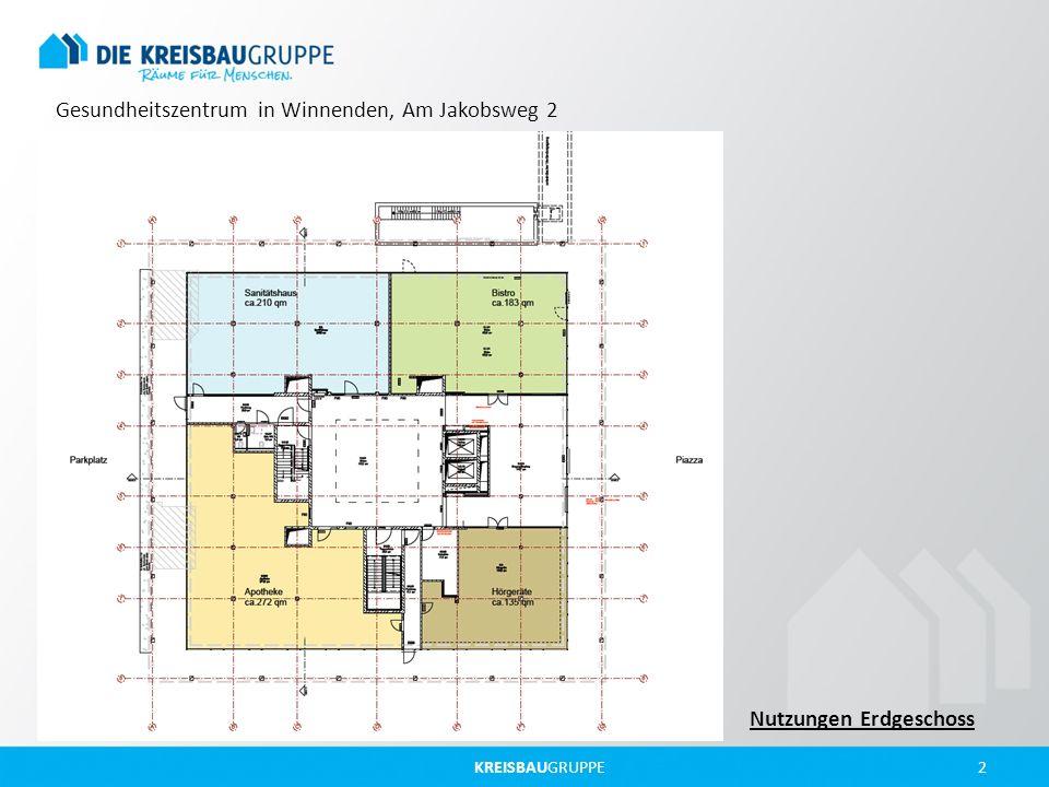 KREISBAUGRUPPE 2 Gesundheitszentrum in Winnenden, Am Jakobsweg 2 Nutzungen Erdgeschoss