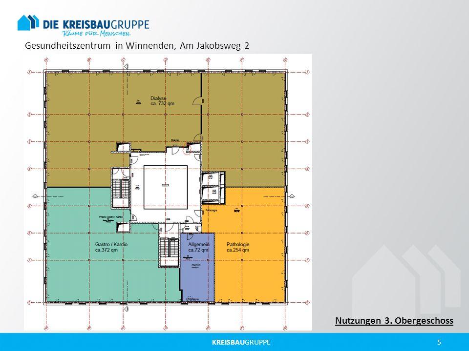 KREISBAUGRUPPE 5 Gesundheitszentrum in Winnenden, Am Jakobsweg 2 Nutzungen 3. Obergeschoss