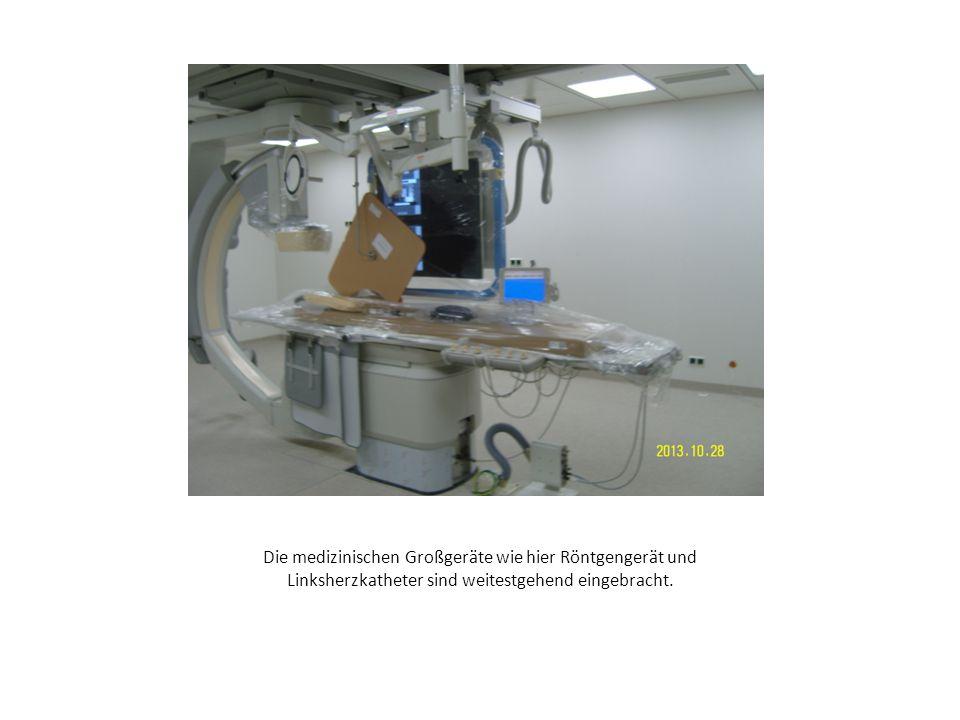 Die medizinischen Großgeräte wie hier Röntgengerät und Linksherzkatheter sind weitestgehend eingebracht.