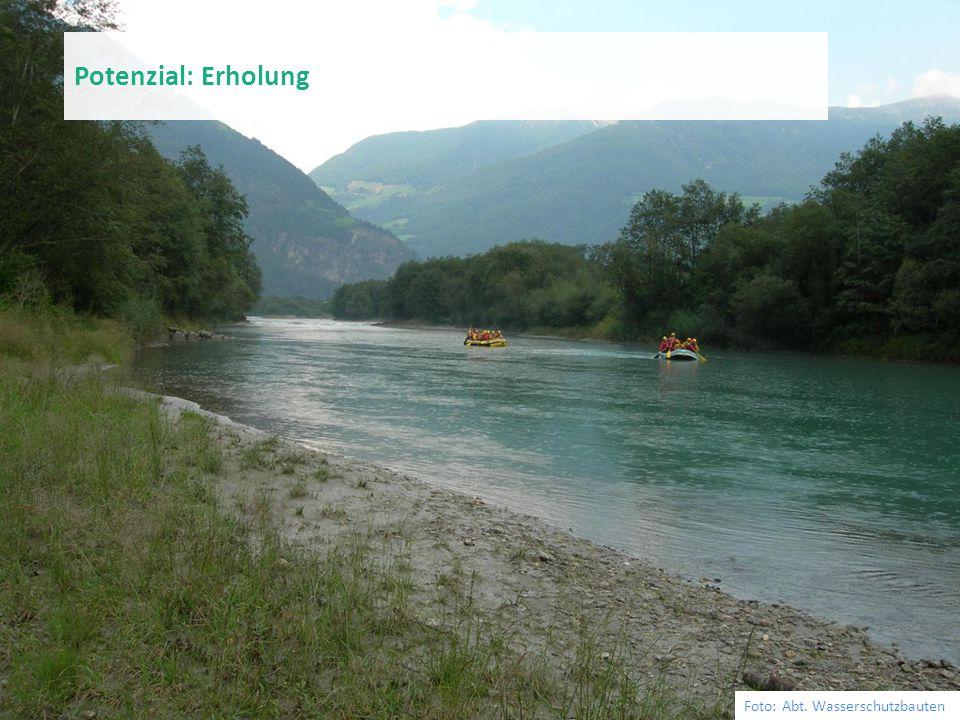 Foto: Abt. Wasserschutzbauten Potenzial: Erholung