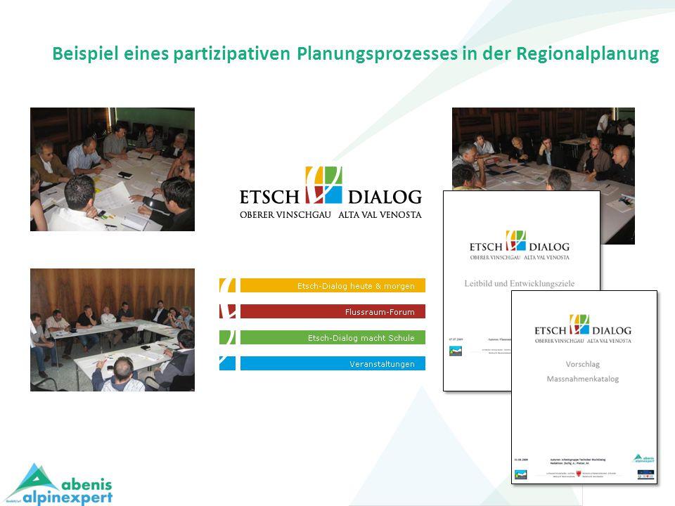 Beispiel eines partizipativen Planungsprozesses in der Regionalplanung