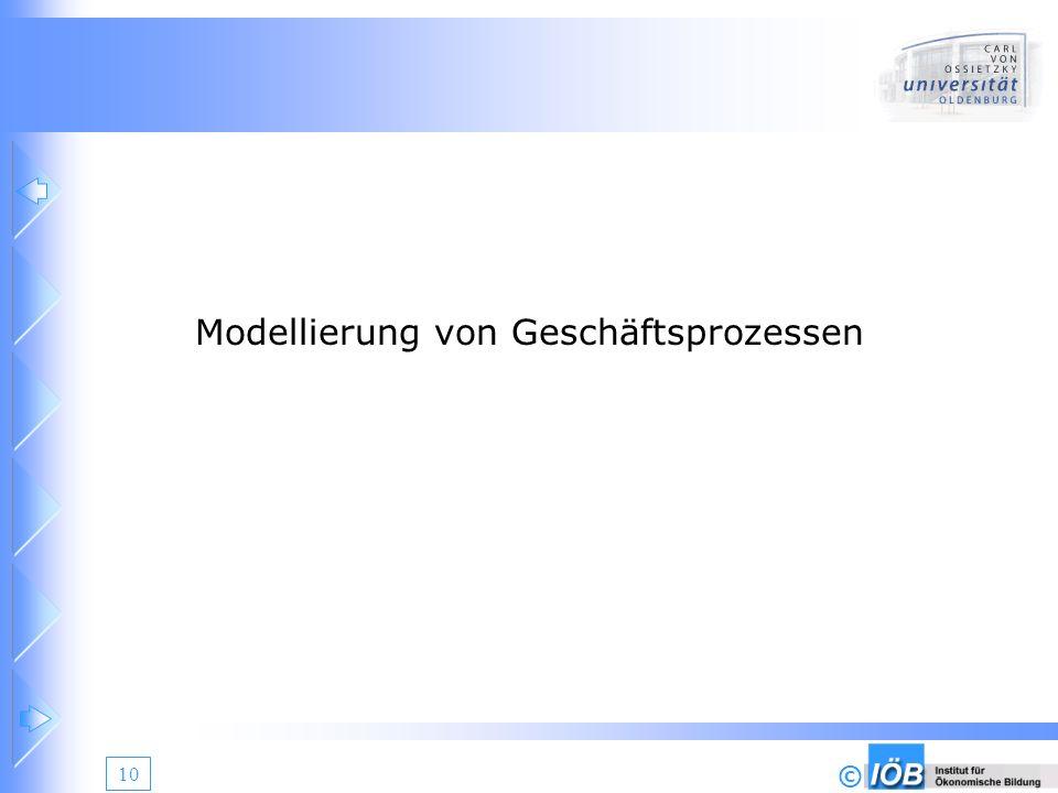 © 10 Modellierung von Geschäftsprozessen