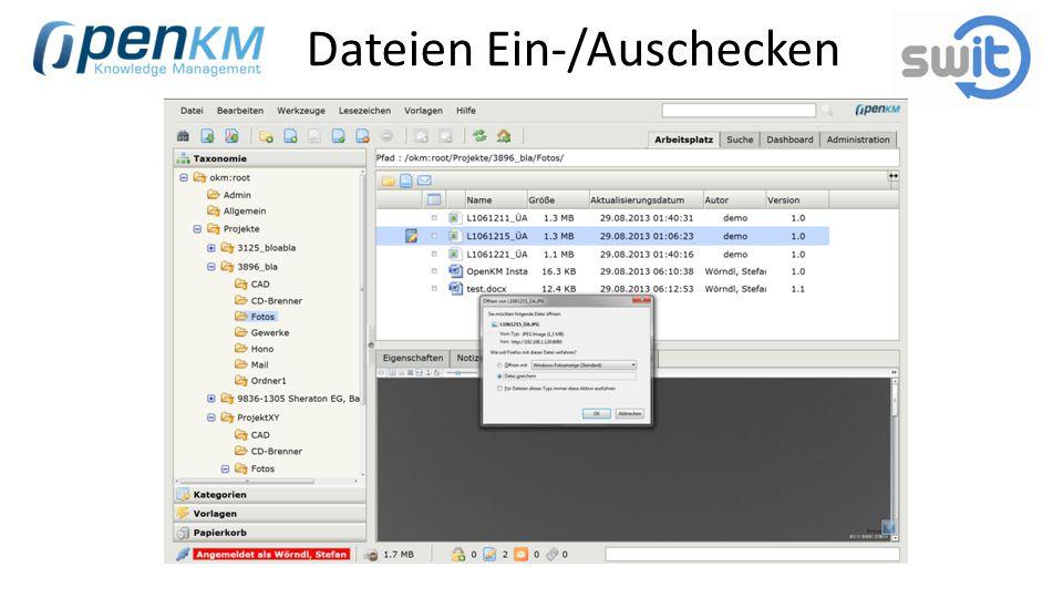 Dateien Ein-/Auschecken