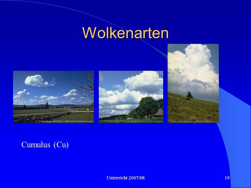 Unterricht 2007/0819 Wolkenarten Cumulus (Cu)