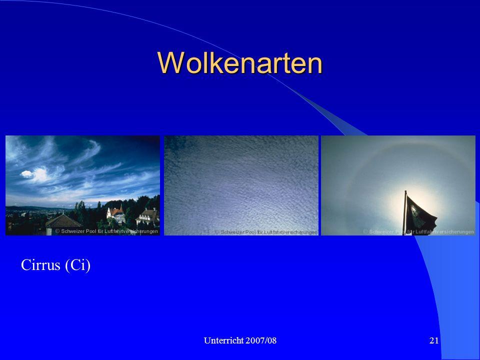 Unterricht 2007/0821 Wolkenarten Cirrus (Ci)