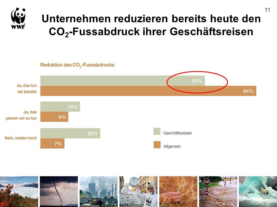 Unternehmen reduzieren bereits heute den CO 2 -Fussabdruck ihrer Geschäftsreisen 11