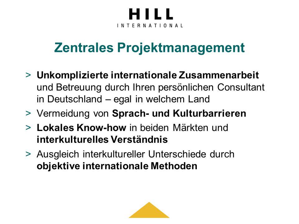 Zentrales Projektmanagement >Unkomplizierte internationale Zusammenarbeit und Betreuung durch Ihren persönlichen Consultant in Deutschland – egal in w