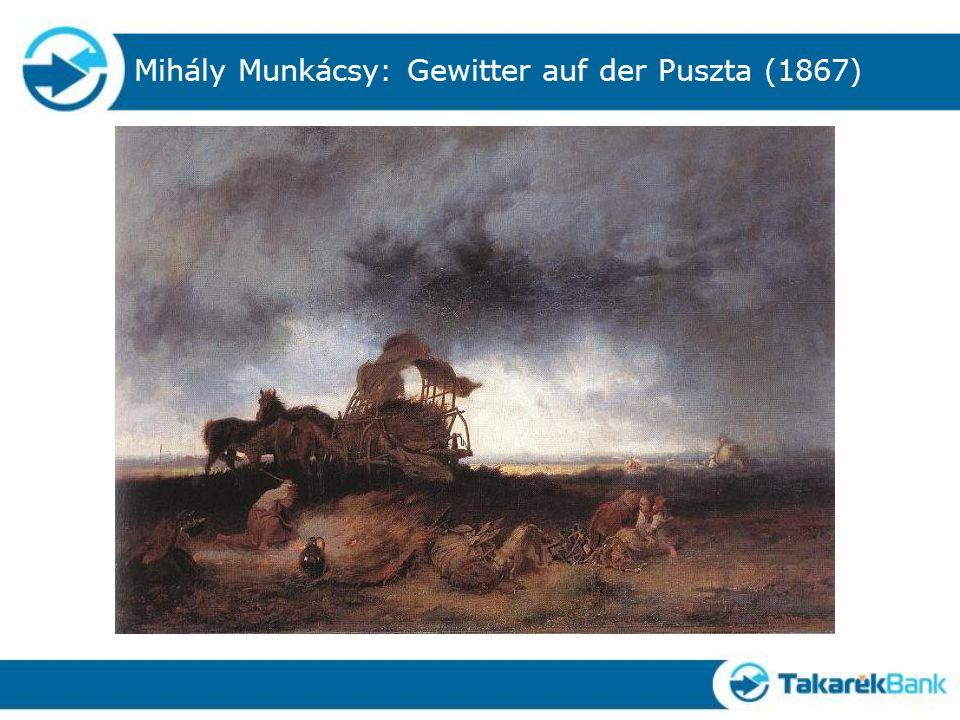 Mihály Munkácsy: Gewitter auf der Puszta (1867)
