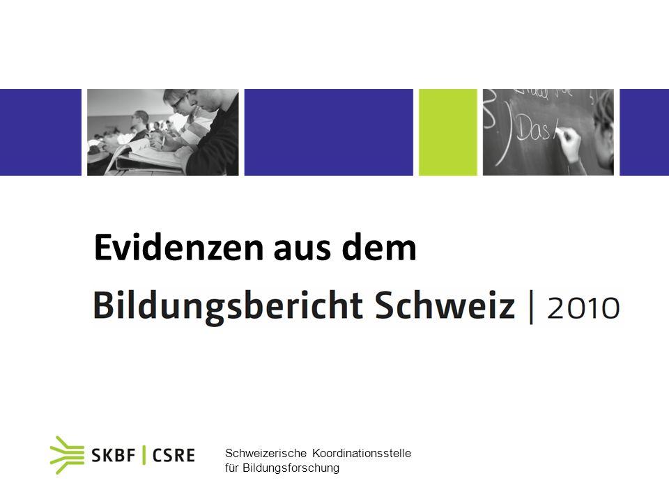 Schweizerische Koordinationsstelle für Bildungsforschung Evidenzen aus dem