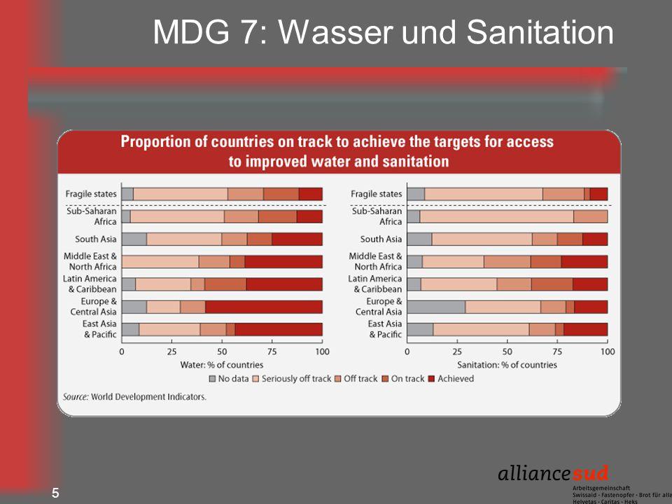 5 MDG 7: Wasser und Sanitation