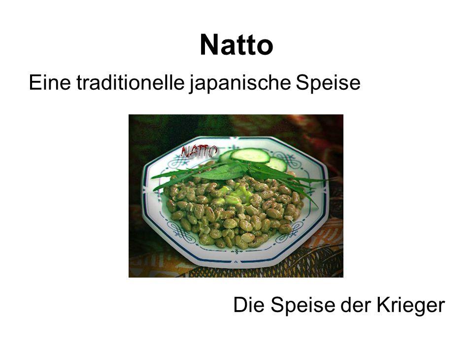 Natto Eine traditionelle japanische Speise Die Speise der Krieger