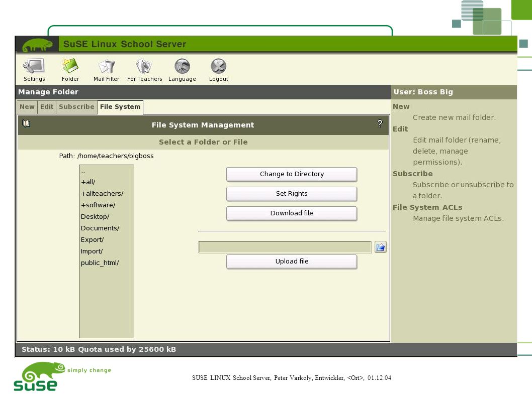 18 SUSE LINUX School Server, Peter Varkoly, Entwickler,, 01.12.04