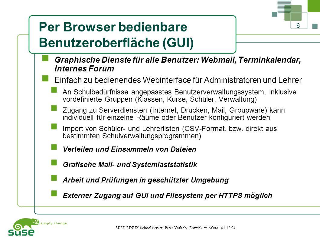 17 SUSE LINUX School Server, Peter Varkoly, Entwickler,, 01.12.04