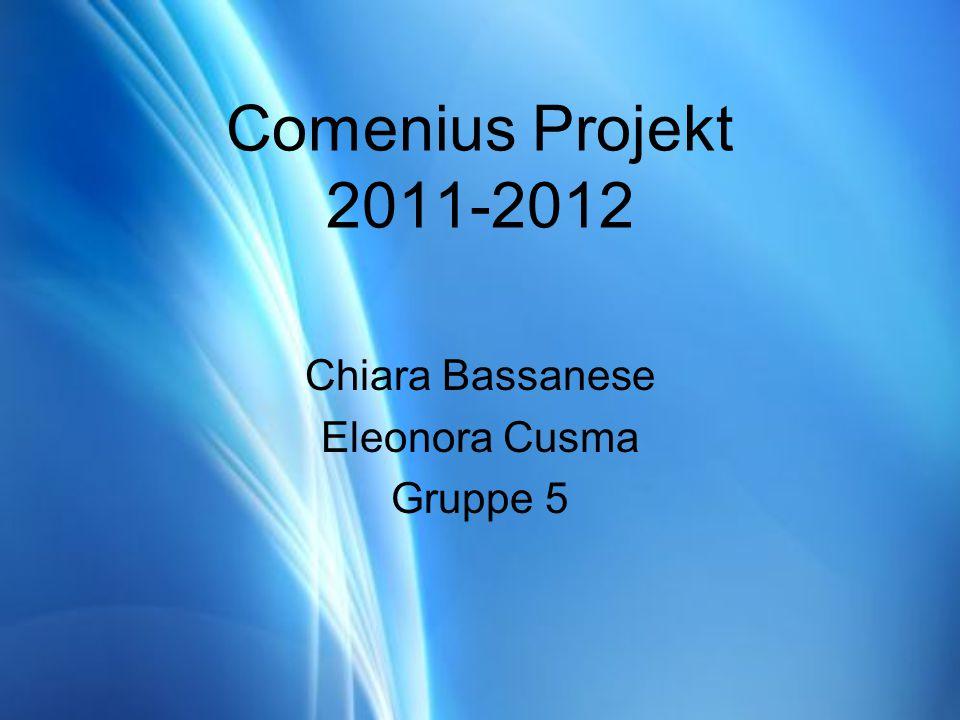 Comenius Projekt 2011-2012 Chiara Bassanese Eleonora Cusma Gruppe 5