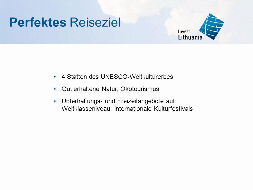 Perfektes Reiseziel 4 Stätten des UNESCO-Weltkulturerbes Gut erhaltene Natur, Ökotourismus Unterhaltungs- und Freizeitangebote auf Weltklasseniveau, i