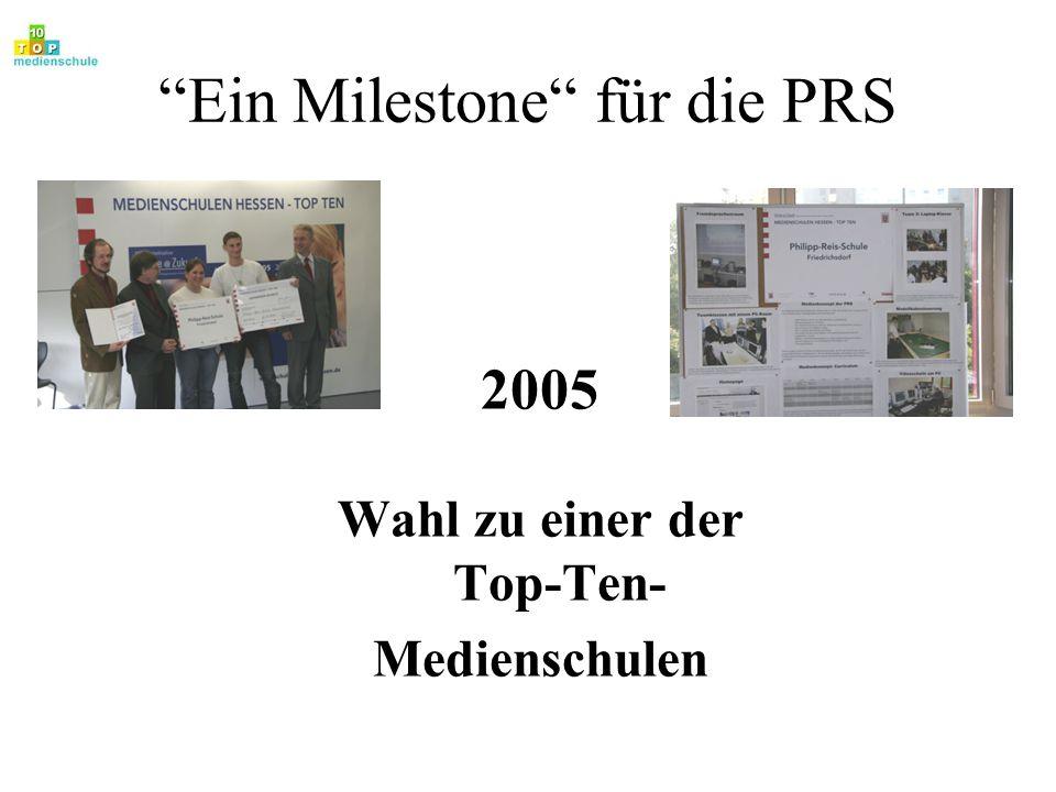Ein Milestone für die PRS 2005 Wahl zu einer der Top-Ten- Medienschulen