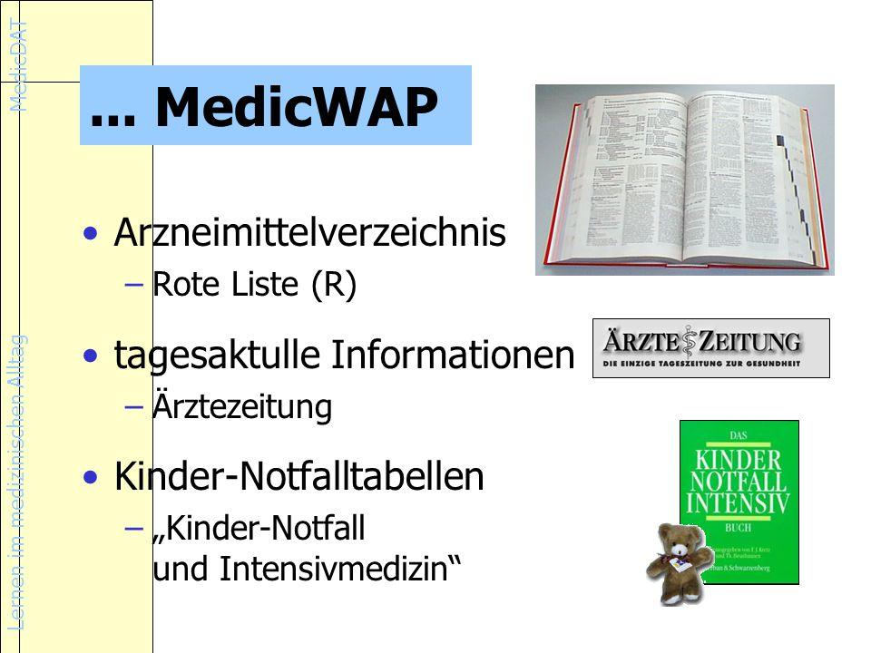 Lernen im medizinischen Alltag MedicDAT...