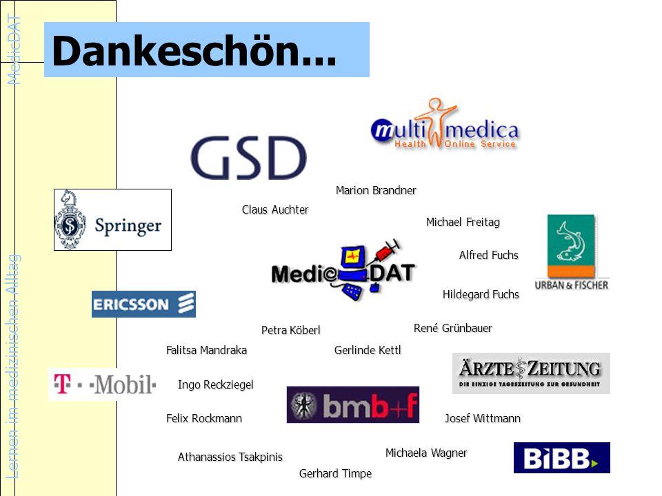 Lernen im medizinischen Alltag MedicDAT Dankeschön...