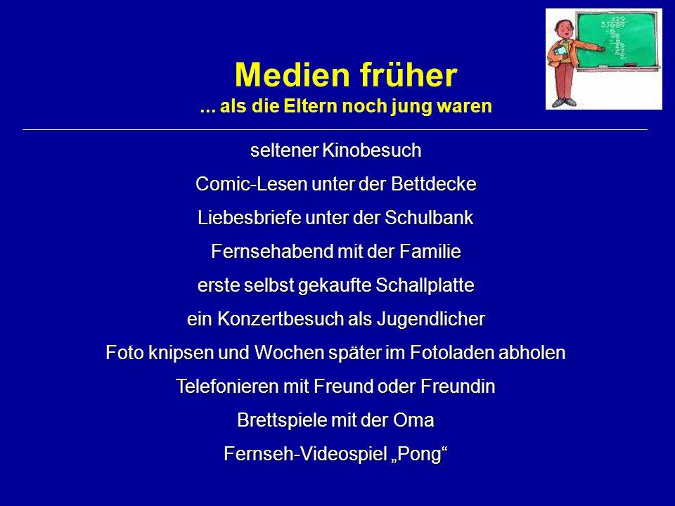 Medien heute ChatComputerspieleMessenger Handy + SMS Online-Rollen-SpieleInternetFernsehen Musik (MP3)