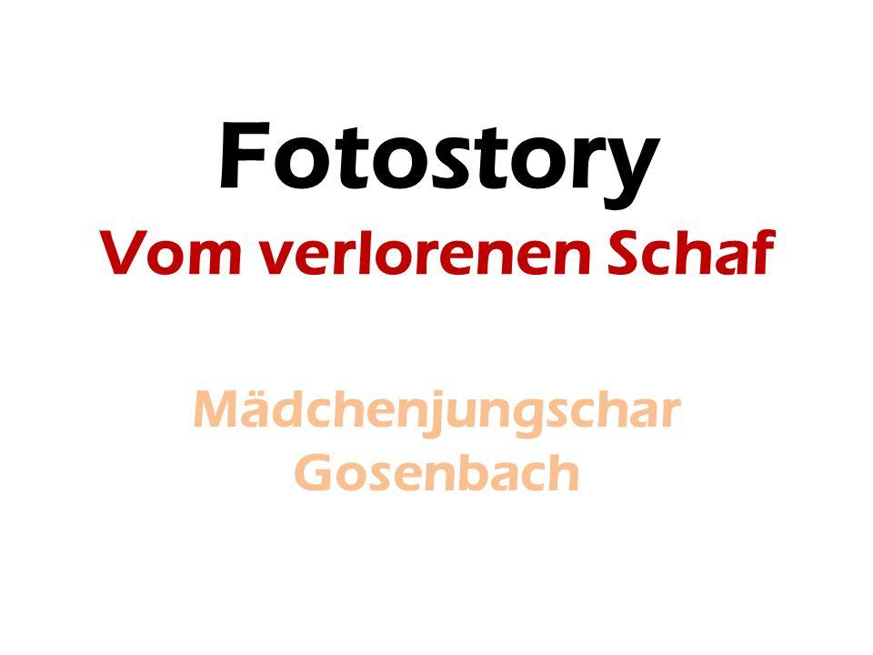 Fotostory Vom verlorenen Schaf Mädchenjungschar Gosenbach