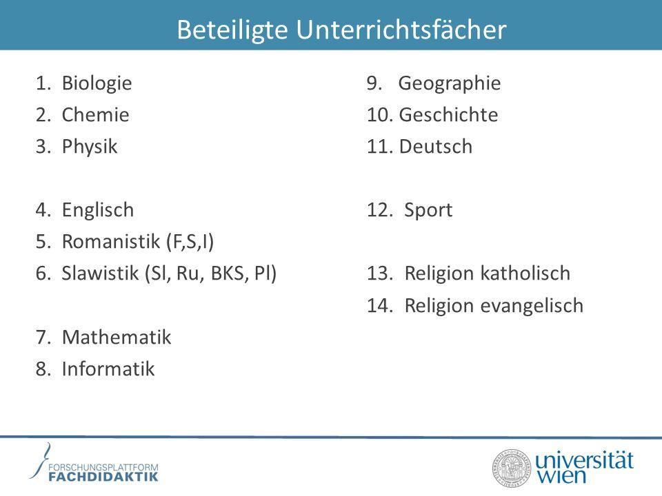 Beteiligte Unterrichtsfächer 1.Biologie9. Geographie 2.