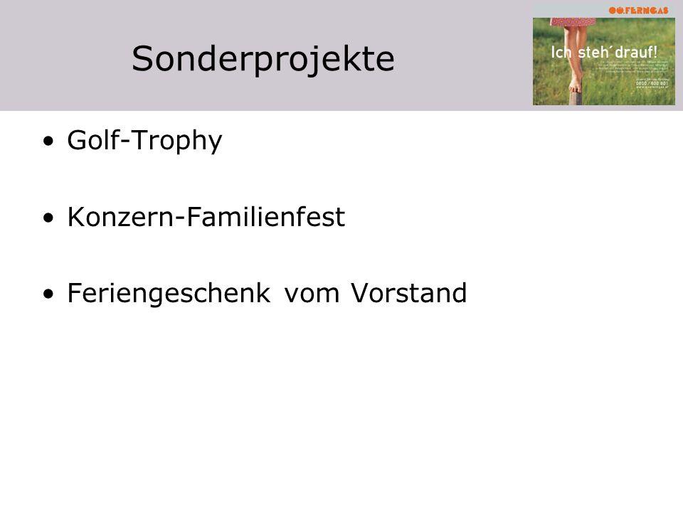Sonderprojekte Golf-Trophy Konzern-Familienfest Feriengeschenk vom Vorstand