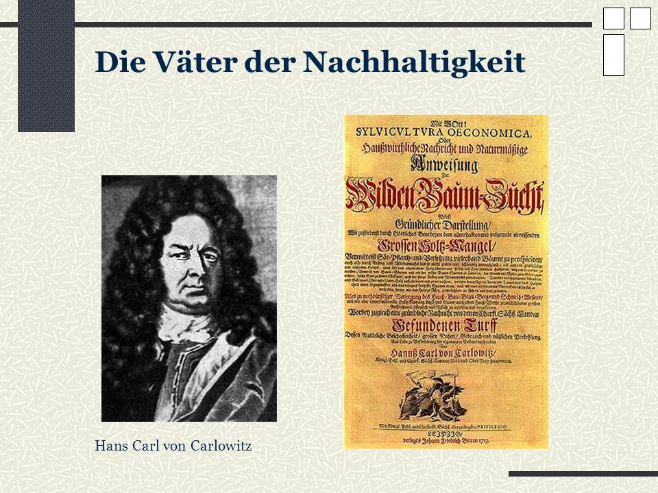 Die Väter der Nachhaltigkeit Hans Carl von Carlowitz