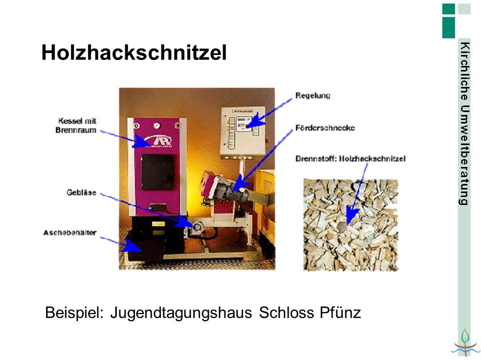Holzhackschnitzel Beispiel: Jugendtagungshaus Schloss Pfünz