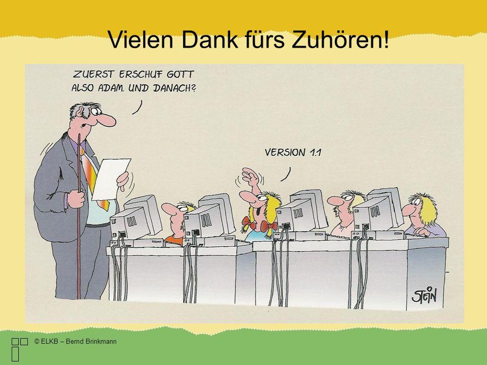 Vielen Dank fürs Zuhören! © ELKB – Bernd Brinkmann