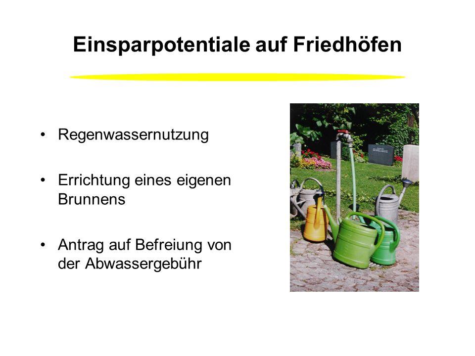 Einsparpotentiale in Kindergarten, Gemeindehaus, Tagungshaus, … WC-Spülung -2 Mengen Spülung (3 und 6 Liter) -Überprüfung der Dichtheit (175 000 l/a)
